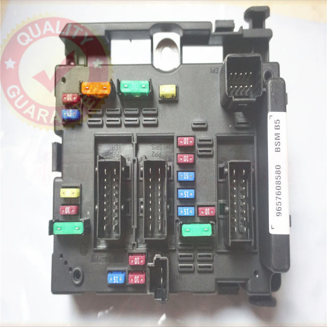 9657608580 fuse box module general system relay controller body Peugeot 206 CC Peugeot 206 Fuse Box Relay #9
