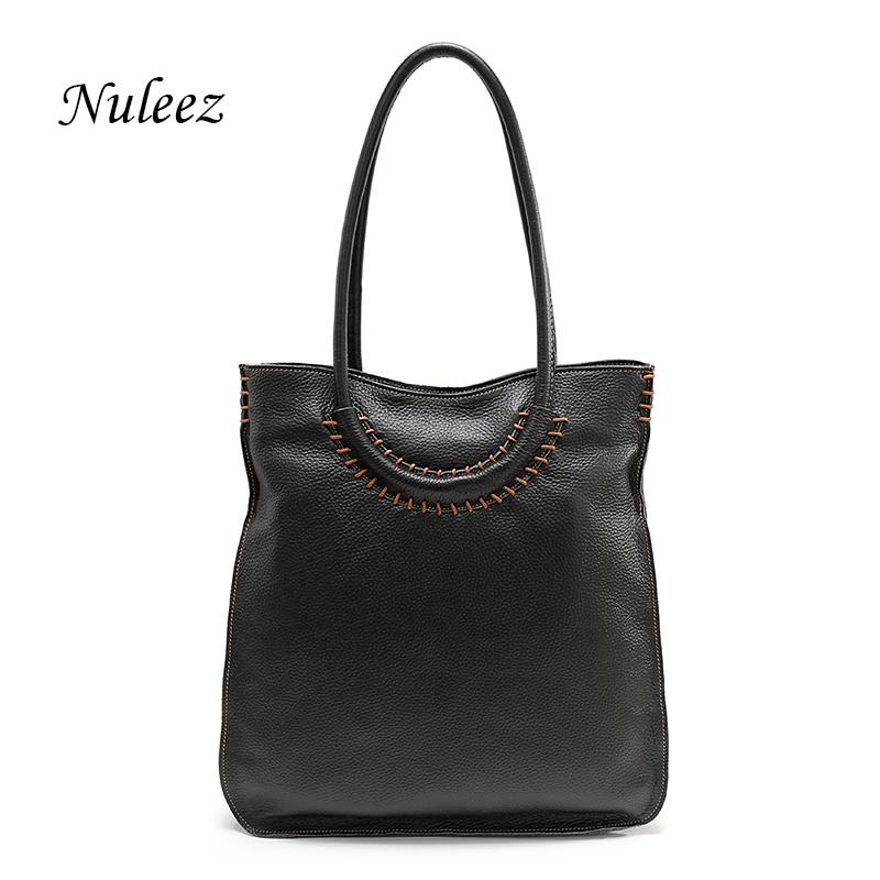 e62d99f9664e Nuleez Italian Leather Bag Real Leather Women Shoulder Handbags Red Genuine  Leather Kraft Bag Crossbody Big Handbags Female 1205
