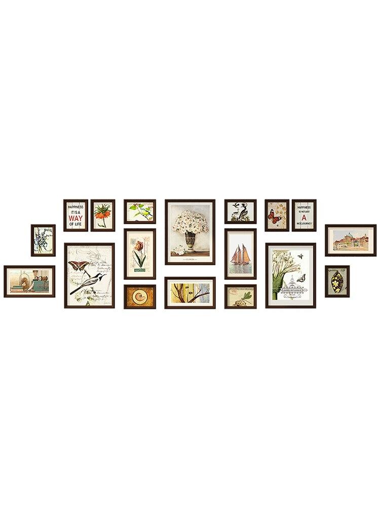 2019 Grande Living Room Decor Wall Hanging Cornici Set 18 pcs Cornici Tuta Casa di Sfondo Foto Combinazione Telaio-in Cornice da Casa e giardino su  Gruppo 3