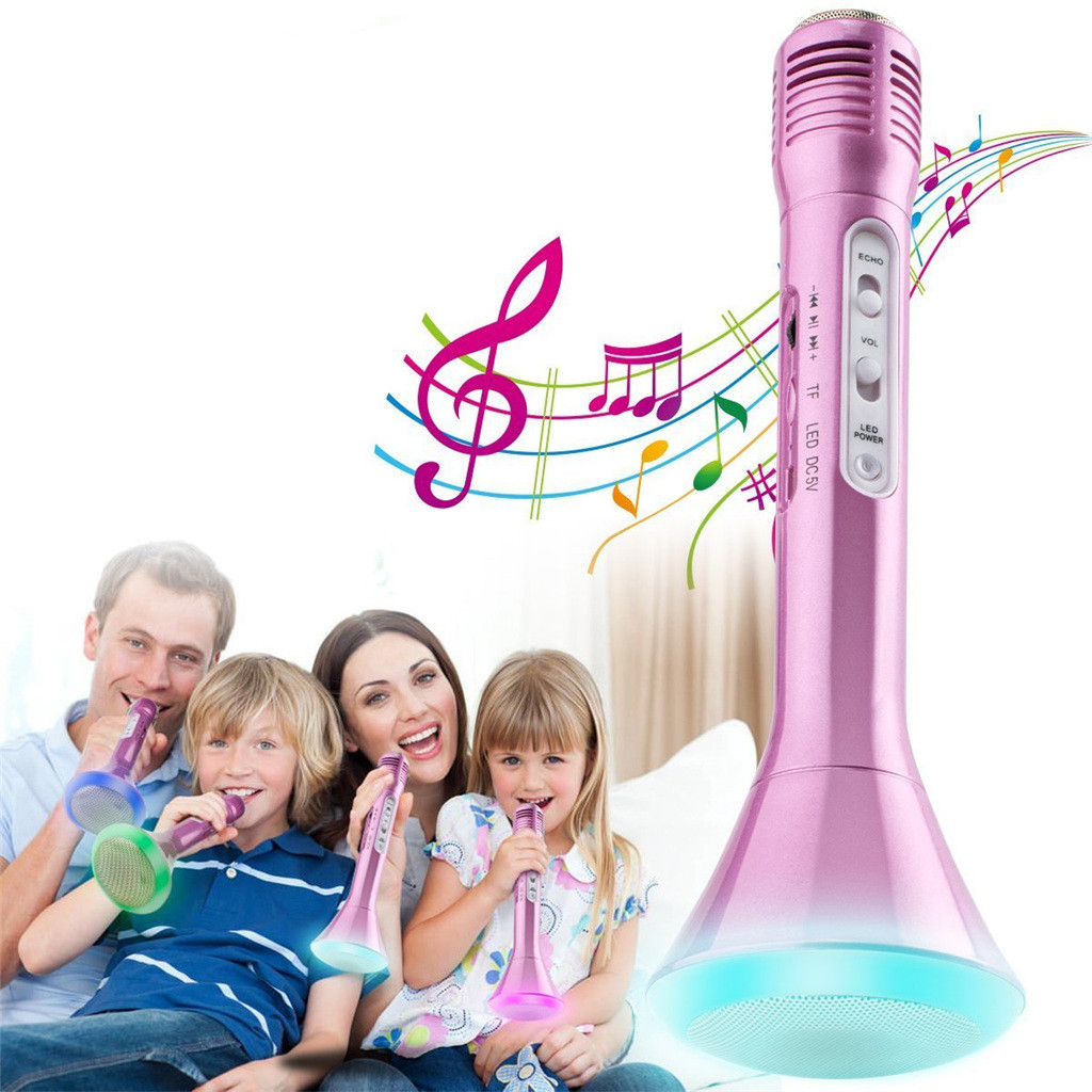 For Kids Sing Educational Toy Party Song Educational Toys Wireless Microphone Karaoke Children Portable Speaker Player A522
