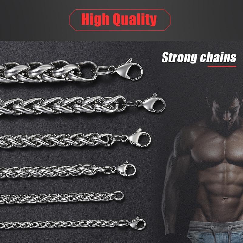 Personalizate colier din oțel inoxidabil 3-10 mm din oțel - Bijuterii de moda - Fotografie 5