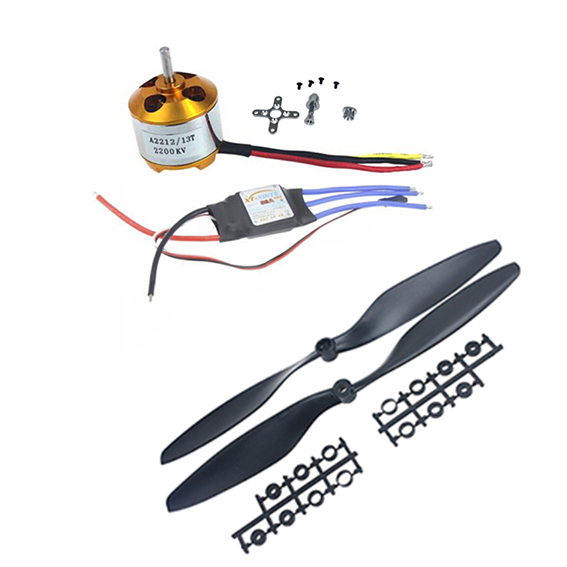 1PCS A2212 2200KV  Outrunner Motor & JMT 30A ESC &1045 Prop Propeller For F450 F500 F550 Drone 4set lot a2212 1000kv brushless outrunner motor 30a esc 1045 propeller 1 pair quad rotor set for rc aircraft multicopter