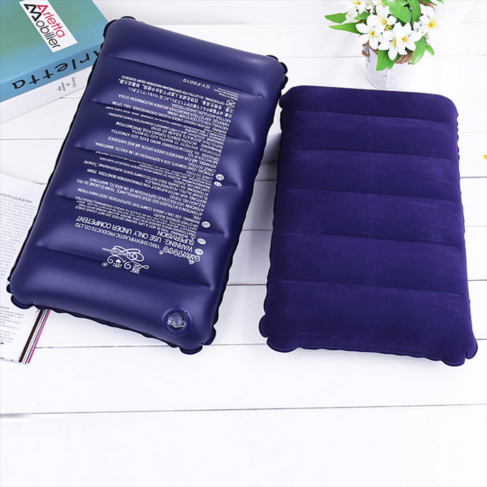 1Pcs 46x30cm Inflatable Pillow Portable travel Mat Travel Outdoor Comfortable Protect Head Neck Inflatable Air Pillow Cushion