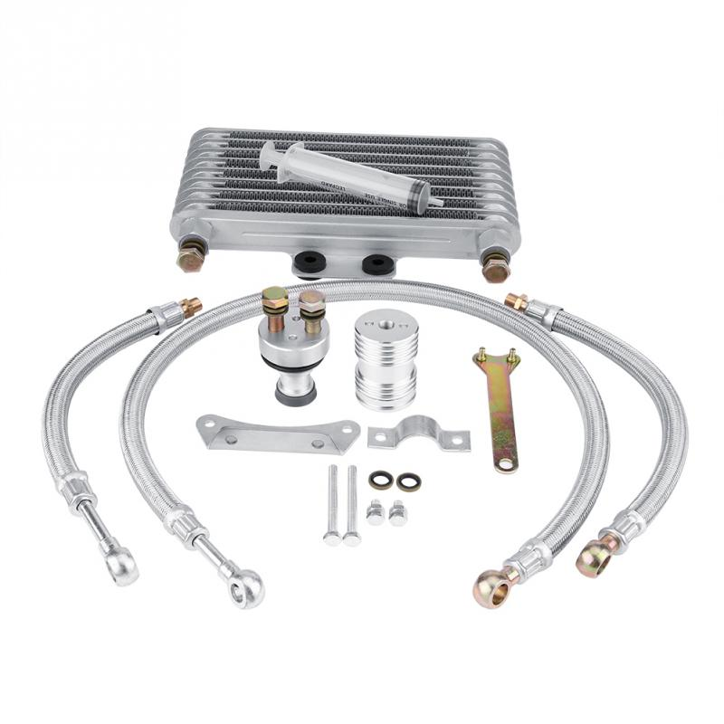 For Honda CB CG Engine Universal 125ml Motorcycle Oil Cooler Engine Oil Cooling Radiator System Kit