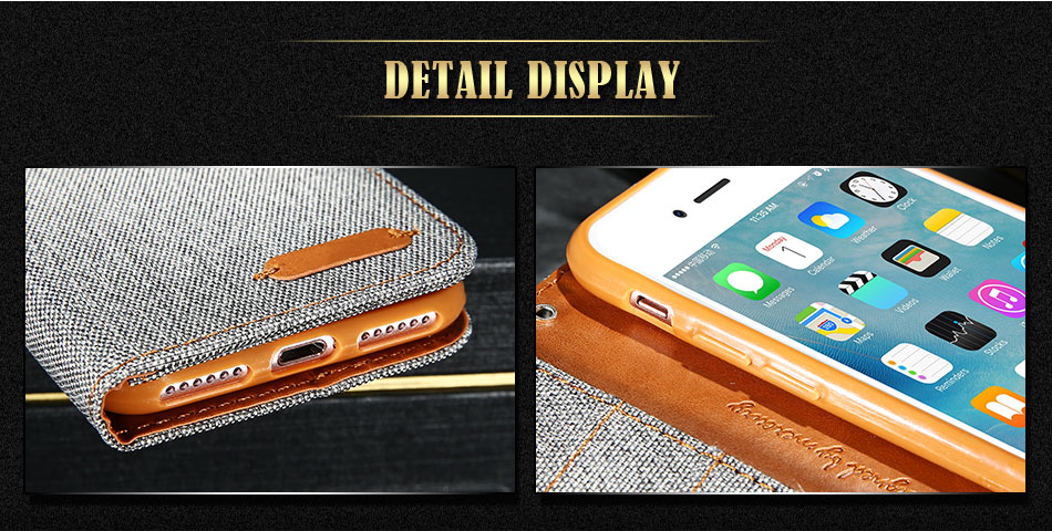DOEES Luxury Stand Wallet Flip Cases For iPhone 6 6S Plus 7 5 5S SE Fashion Card Slot Leather Cover For iPhone 7 6 5 S With LOGO (5)