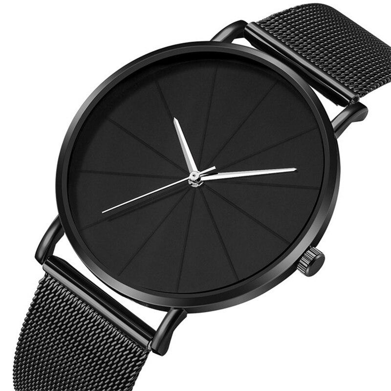 2019 Relogio Masculino Watches Men Fashion Minimalism Stainless Steel  Band Watch Quartz Clock Business Wristwatch Reloj Hombre