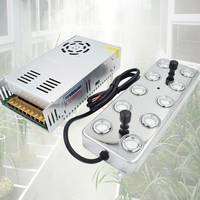 110V 220V 10 Head Ultrasonic Mist Maker Fogger Humidifier Facial Mist Sprayer Industry Aeromist Hydroponics Transformer