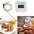 Pratico ta238 electronic display lcd allarme termometro per alimenti termometro di carne temperatura strumento di misura strumenti di cottura precisa