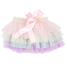 Summer Fashion Baby Girl Tutu Skirt Soild Color Newborn Princess Girl Tulle Clothes Child Lace Skirt for Ballet Dance Age 0-12M