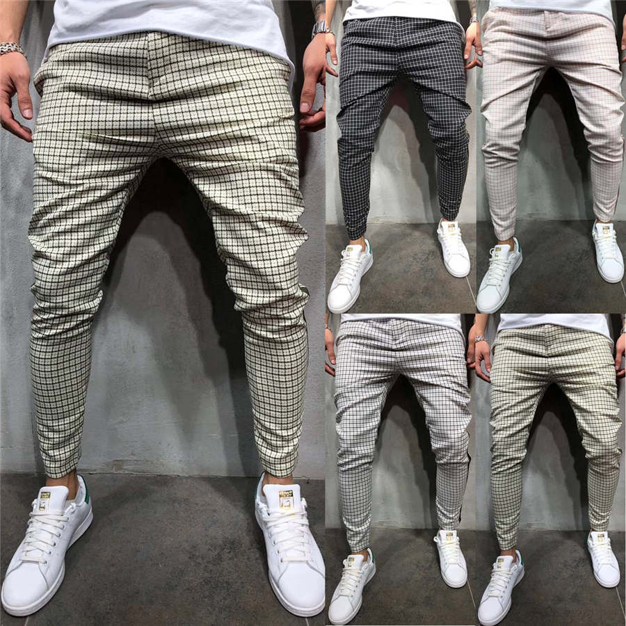 2019 New Men's Pants Slim Fit Tracksuit Sport Gym Skinny Jogging Joggers Sweat Pants Trousers Casual Summer Autumn