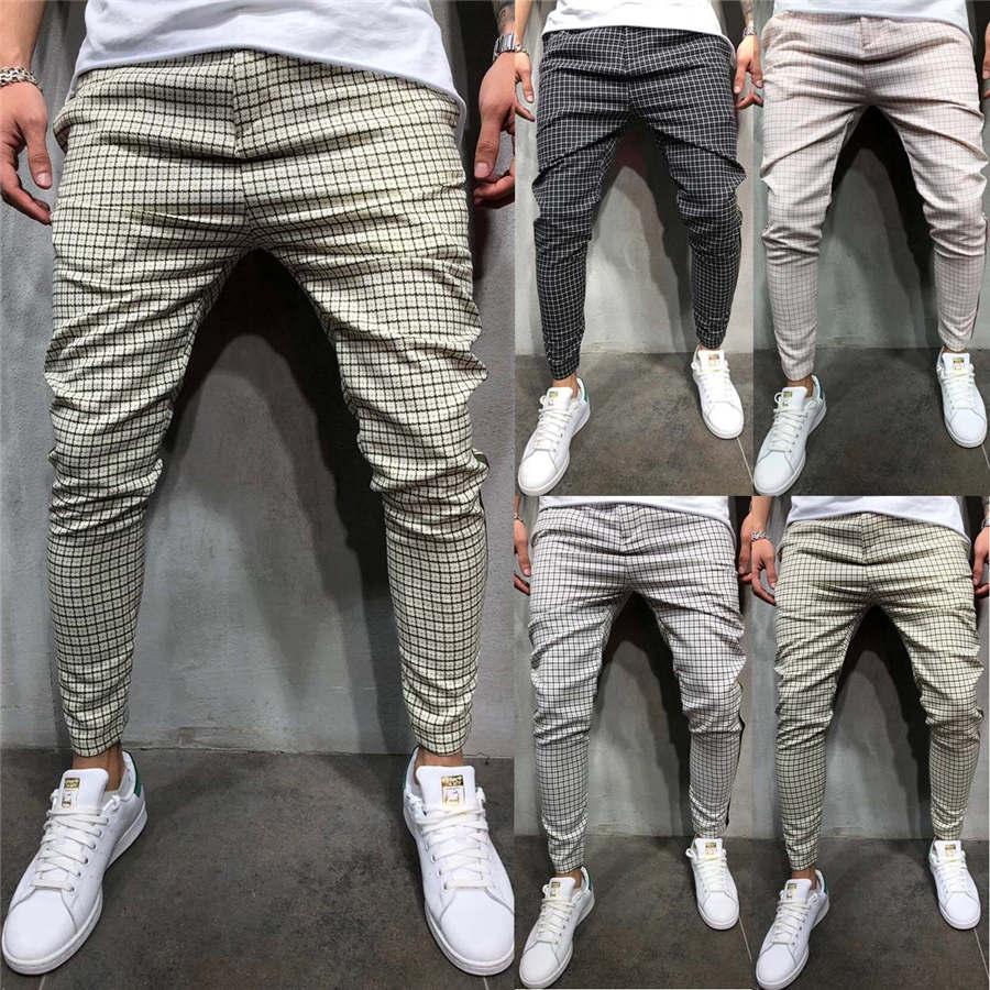 2019 New Men's Pants Slim Fit Tracksuit Sport Gym Skinny Jogging Joggers Sweat Pants Trousers Casual Summer Autumn