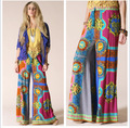 Hippie Chic Pants Long Wide Leg Loose Bell Bottom Gypsy Palazzo Pants Women Pantalon Palazzo Mujer