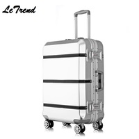 New 20 24 26 29 Inch Rolling Luggage TSA Aluminium Frame+ABS Trolley Solid Travel Bag Women Boarding Bag Carry On Suitcases