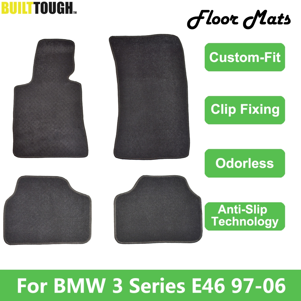4pcs For BMW 3 Series E46 1998   2006 LHD Custom Car Floor Mat Mats Carpet Liner Nylon Rubber Backing Front Rear 2005 2004 2003-in Floor Mats from Automobiles & Motorcycles    1