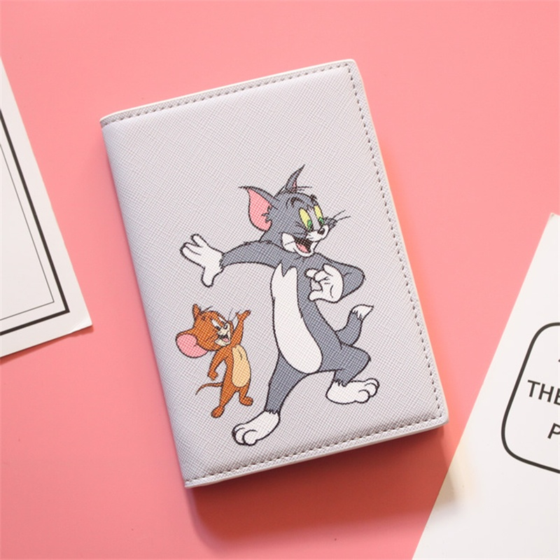 Cute Tom Jerry Passport Cover Kids Like Cartoon Travel Passport Holder Leather Covers For Passport Girls Case Pouch Passport