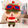 High quality 80cm soft Teemo mushroom stuffed Plush toy LOL Online game hero doll model Hold pillow Kids baby Gift free shipping
