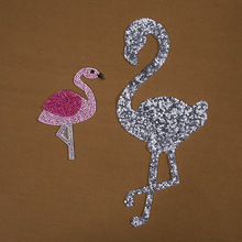 Flamingo hot melt cloth stick diamond clothing shoes and hats patch stickers fashion exquisite rhinestone