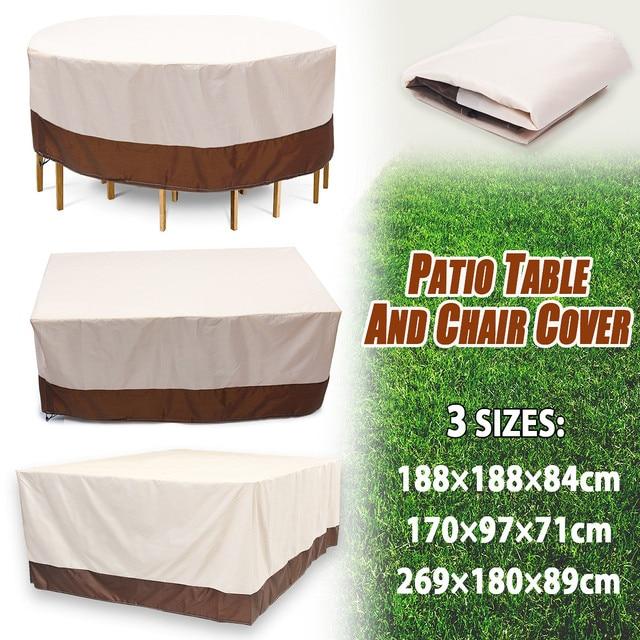 3 Shape Heavy Duty Waterproof Chair Dust Rain Cover For Garden Outdoor Patio Furniture