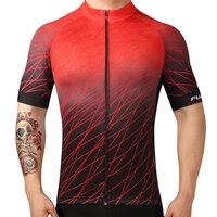 Fualrny Marca Hombres Ciclismo Jersey 2018 Verano Respirable Cómodo Camisa de Bicicletas de Descenso DH MTB Bicicleta de Carretera Jersey
