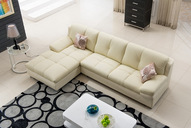 leisure modern leather sofa l shape corner sofa set casual living room sofa made in china