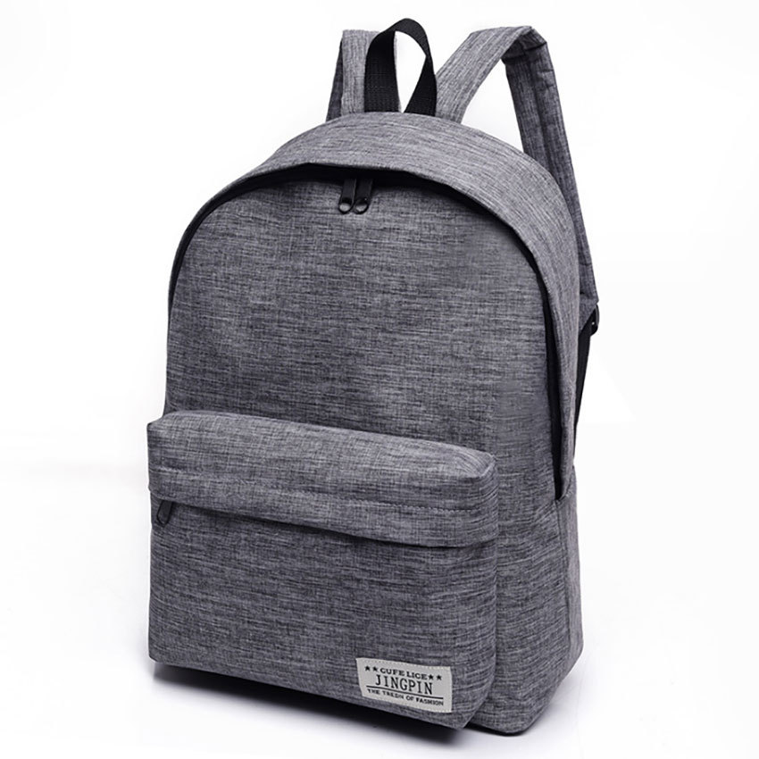 Simple Canvas Backpack Female School Laptop Backpack For Teenagers Travel Bagpack Stachels Rucksack Mochila Unisex