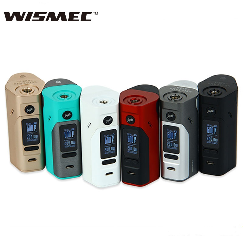Electronic Cigarette Wismec Reuleaux RX2/3 Box Mod Updated RX23 150W/200W TC Box Mod NO Battery 100% Original VS RX200S original wismec evolv dna 250 box mod 250w reuleaux dna250 evolv tc vw mod powered by dna250 technology no 18650 battery 510 mod