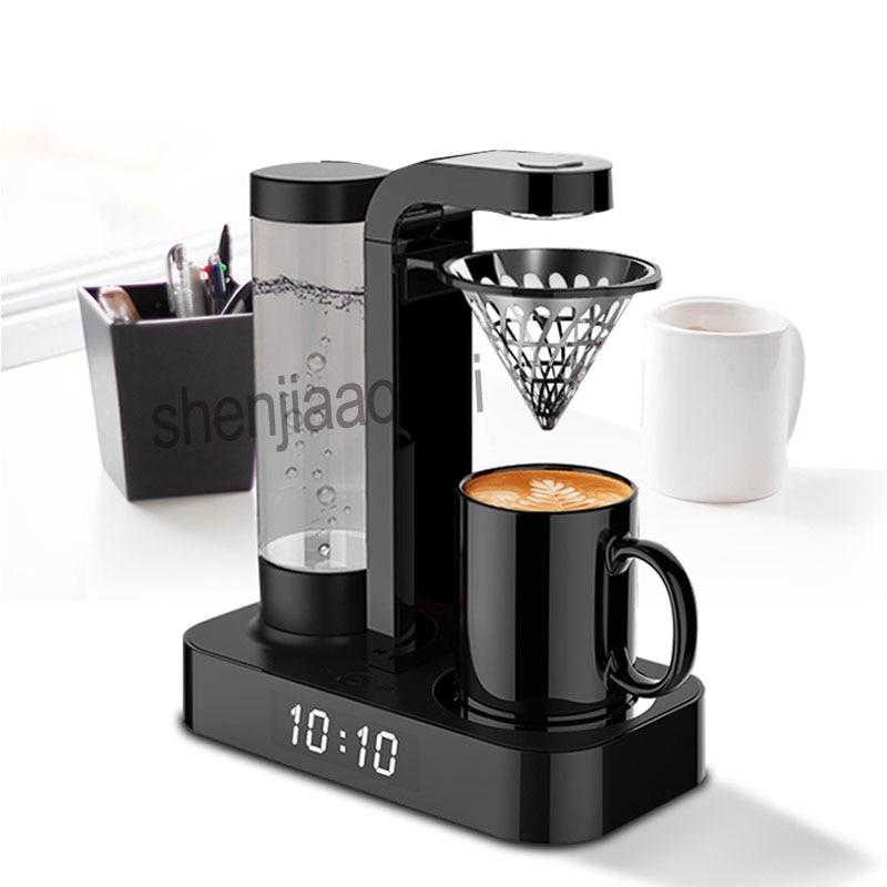1pc Household Coffee Machine Clock Automatic American  Drip Office Mini Coffee Pot Machine Hand Punch Coffee Machine 220v 600w