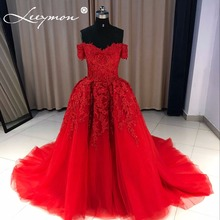 Красное вечернее платье 2018 Long Sweetheart Applique вышитый бисером платье для вечеринки для вечеринки для вечеринки с длинным рукавом