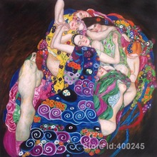 Famous Portrait Paintings by Gustav Klimt the virgin Reproduction nude art women Hand painted High quality