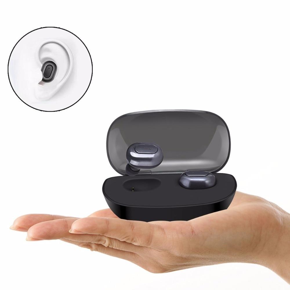 MI03 Bluetooth Senza Fili Auricolari V4.1 Mini Stereo In-Ear Auricolari Cuffie con Cancellazione del Rumore Mic 700 mAh Ricarica Contenitore di Batteria