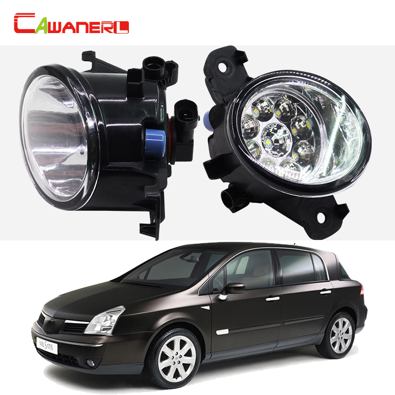 Cawanerl 2 Pieces Car Styling Fog Light LED Light Lamp DRL Daytime Running Light 12V DC For Renault Vel Satis (BJ0_) 2002-2015 cawanerl for toyota highlander 2008 2012 car styling left right fog light led drl daytime running lamp white 12v 2 pieces