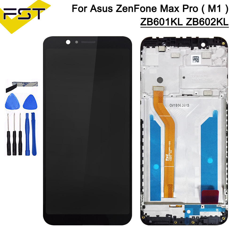 5.99''Black For Asus ZenFone Max Pro ( M1 ) ZB601KL <font><b>ZB602KL</b></font> <font><b>LCD</b></font> Display+Touch Screen Digitizer Assembly With Frame Spare Parts image