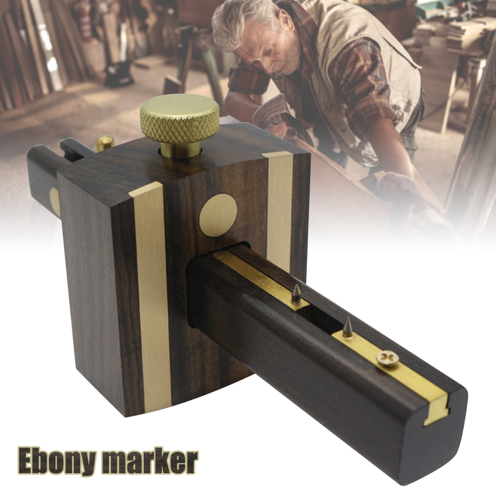 Newly Marking Meter 8inch/20cm Ebony Woodworking Marking Gauge Multi-Function Screw Type Woodworking Tool XSD88