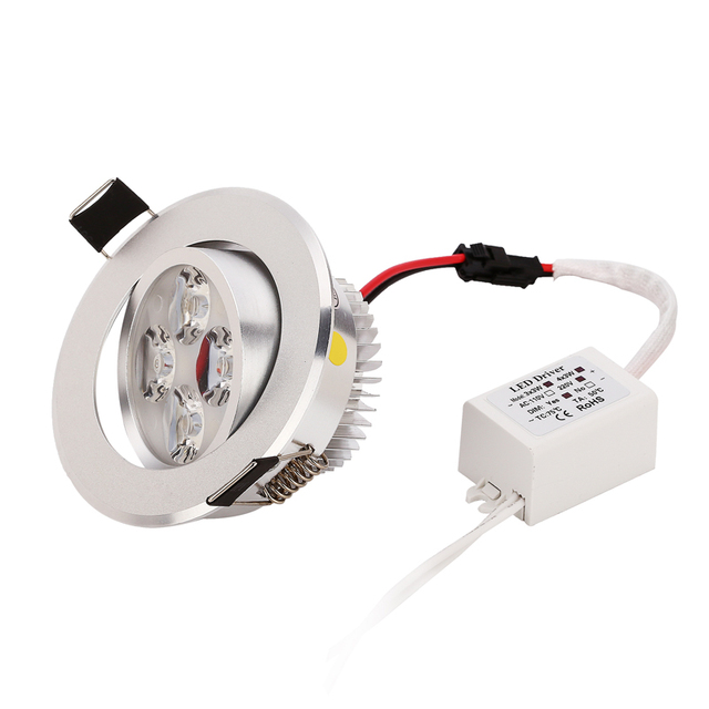 50pc LED Downlight Spotlights LED lamp 3W 4W 5W Dimmable High Quality Upon Best Price light fixtures Free send by fastest DHL