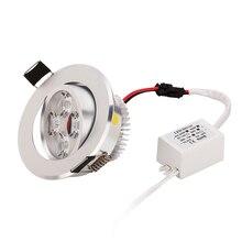 50pc LED 통 스포트 라이트 LED 램프 3W 4W 5W Dimmable 최고의 가격 전등에 높은 품질 무료 빠른 dhl에 의해 보내기
