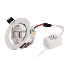 Holofotes led de 50 peças, 3w 4w 5w regulável de alta qualidade sobre a melhor luz de preço fixações envio gratuito por dhl mais rápido