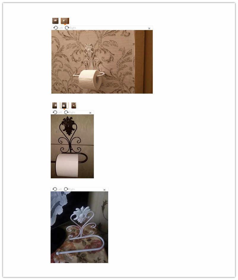 Klasyczny uchwyt na papier do łazienki żelaza wc uchwyt na rolki ręczników papierowych uchwyt ścienny do łazienki wieszak na ręczniki akcesoria w stylu Vintage