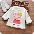 Winter Spring Autumn Long Sleeve T-shirt For Girls Stripe Boys Shirts Children Tops Pig Children's Sweatshirts Baby Clothing