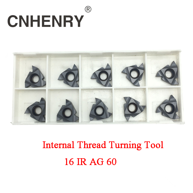 все цены на Indexable Internal Threading Inserts Carbide Inserts 16IR AG60 Lathe Cutter For Thread Turning онлайн