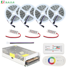 5050 RGBW LED Strip Non Waterproof Flexible Tape 10M 15M 20M +2.4G RF RGBW Remote Controller+RGBW Amplifier+DC12V Power Supply