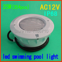 Cor 25 W led embutido piscina luz 25 W * ( 354 pcs ) underwater led piscina luz ( sintético de ) frete grátis|led pool light|pool light|led swimming pool light -