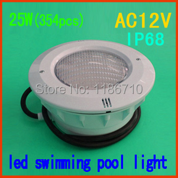 Single Color 25W embedded led swimming pool light 25W*(354pcs) underwater led pool light(Synthetic materials)Free shipping