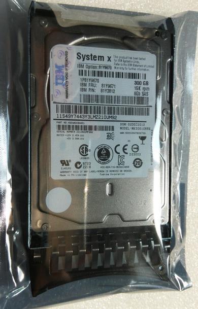 3 years warranty  100%New and original  81Y9670 81Y9671 300G 15K SAS 2.5inch
