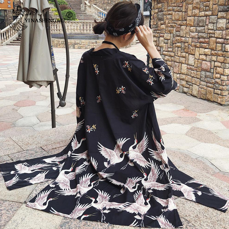 Japanese Kimono Traditional Yukata Japanese Traditional Dress Asian Clothes Chiffon Cardigan Kimono Korean Traditional Dress