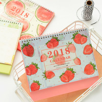 Summer Fruits 2018 Desk Calendar Cute Table Agenda Study Scheduler To Do List Planner