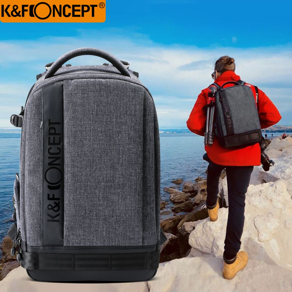 a5bce47a11 K F CONCEPT Waterproof Nylon Camera Backpack (L) Big Size hold 1 Camera+6