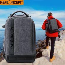 K & F CONCEPT водостойкий нейлоновый рюкзак для камеры (L) Большой размер 1 камера + 6 объектив с регулируемыми лямками для Canon Nikon sony DSLR