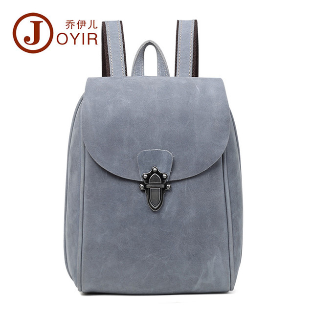 Fashion Backpacks for Teenage Girls Women s Genuine Leather Backpack School Bag  Casual Vintage Large Capacity Travel Backpack eb63a873a7e8c