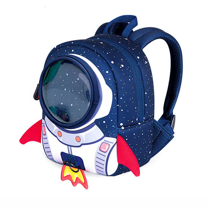 64c1527fe7 3D School bags Children School Backpack Small Size Aged 1-3 Years Old  Rocket Shape