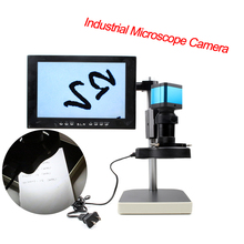 On sale 14MP HD microscope Digital industrial microscope camera interface LED ring light video digital microscope camera
